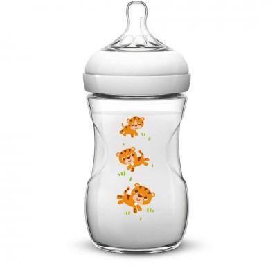 Avent Feeding Bottle Biberon 260 ml / 9 oz ( 1m+) Natural Kaplan Desenli