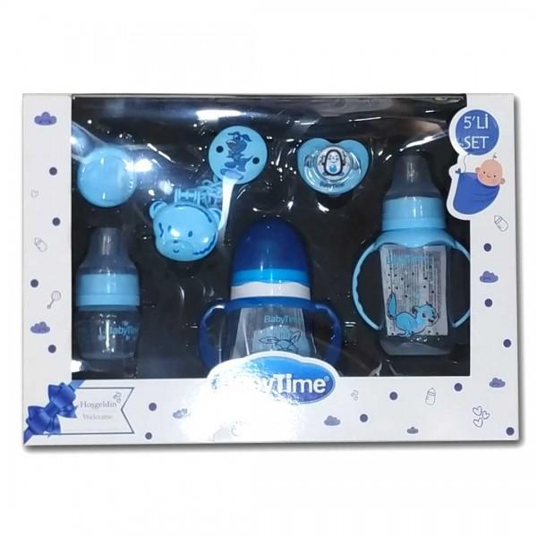 Baby Time 5'Lİ Biberon- Emzik Takımı Mavi