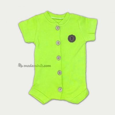 Önden Düğmeli Tulum Yeşil (3-9 ay)