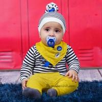 BABY BOY NAKIŞLI 4'lü Badili Takım SARI(3-6 Ay)