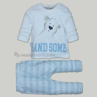 Hand Some  Baskılı Pijama Takımı 6-12-18 ay