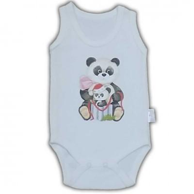 panda baskılı  Çıtçıtlı Badi 3-12 ay