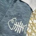Balık Kılçığı Gofre Baskılı  2'li Takım  Beyaz (6-24 Ay)